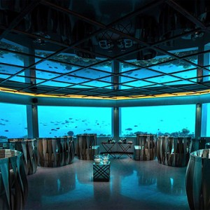 Ozen by Atmosphere at Maadhoo Island - Luxury Maldives Honeymoon Packages - M6m underwater restaurant
