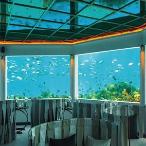 Ozen by Atmosphere at Maadhoo Island - Luxury Maldives Honeymoon Packages - M6m underwater restaurant3