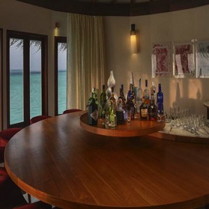 Ozen by Atmosphere at Maadhoo Island - Luxury Maldives Honeymoon Packages - OZEN Water suite bar