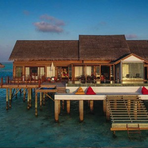 Ozen by Atmosphere at Maadhoo Island - Luxury Maldives Honeymoon Packages - OZEN Water suite exterior