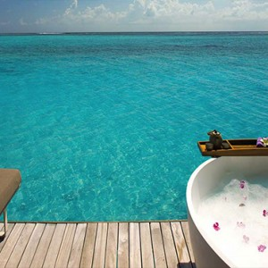 Ozen by Atmosphere at Maadhoo Island - Luxury Maldives Honeymoon Packages - Spa treatment room view
