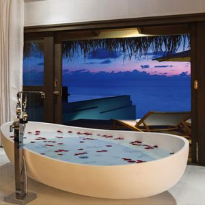 Ozen By Atmosphere At Maadhoo Island Luxury Maldives Honeymoon Packages Wind Villa With Pool Bathtub