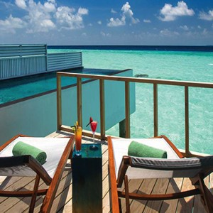 Ozen by Atmosphere at Maadhoo Island - Luxury Maldives Honeymoon Packages - Wind villa with pool exterior pool