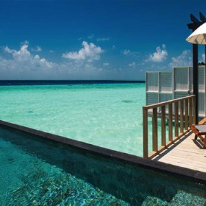 Ozen by Atmosphere at Maadhoo Island - Luxury Maldives Honeymoon Packages - Wind villa with pool exterior pool deck
