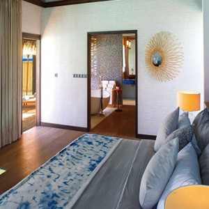Ozen by Atmosphere at Maadhoo Island - Luxury Maldives Honeymoon Packages - Wind villa with pool interior bedroom