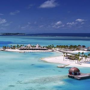 Ozen by Atmosphere at Maadhoo Island - Luxury Maldives Honeymoon Packages - aerial view