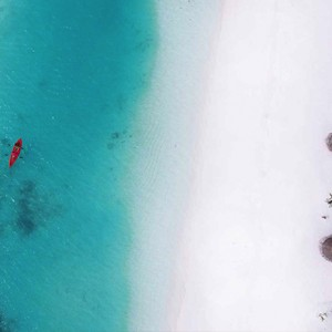 Ozen by Atmosphere at Maadhoo Island - Luxury Maldives Honeymoon Packages - aerial view2