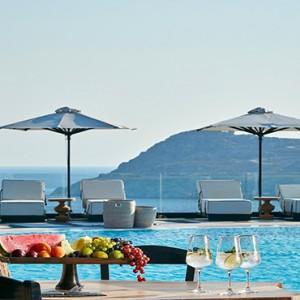 Royal Myconian Hotel and Thalassa Spa - Luxury Greece Honeymoon Packages - Camares Pool Restaurant