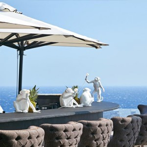 Royal Myconian Hotel and Thalassa Spa - Luxury Greece Honeymoon Packages - Lagoon Swim-up Bar
