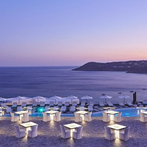 Royal Myconian Hotel and Thalassa Spa - Luxury Greece Honeymoon Packages - The Sunset Terrace