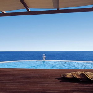 Royal Myconian Hotel and Thalassa Spa - Luxury Greece Honeymoon Packages - private pool and view