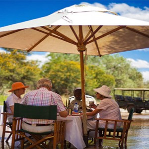 Samara Private Game Reserve - Luxury South Africa Honeymoon Packages - Bush lunch dining