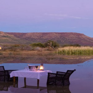 Samara Private Game Reserve - Luxury South Africa Honeymoon Packages - Honeymoon dinner