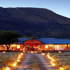 Samara Private Game Reserve - Luxury South Africa Honeymoon Packages - Karoo lodge accommodation entrance