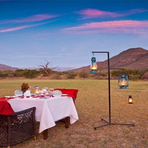Samara Private Game Reserve - Luxury South Africa Honeymoon Packages - Valentines romantic dinner