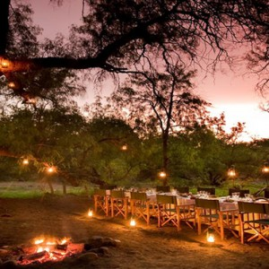 Samara Private Game Reserve - Luxury South Africa Honeymoon Packages - exterior dining