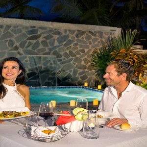 Serenity at Coconut Bay - Luxury St lucia Honeymoon Packages - Couple private dining