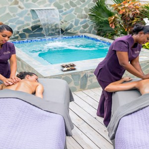 Serenity at Coconut Bay - Luxury St lucia Honeymoon Packages - Couples spa massage in own suite