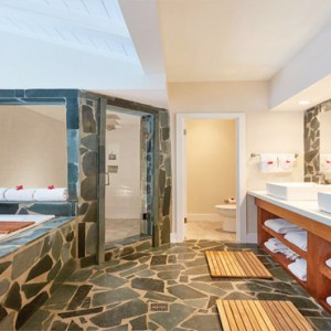 Serenity at Coconut Bay - Luxury St lucia Honeymoon Packages - Plunge Pool Butler suite bathroom