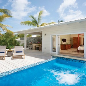 Serenity at Coconut Bay - Luxury St lucia Honeymoon Packages - Plunge Pool Butler suite plunge pool and private deck