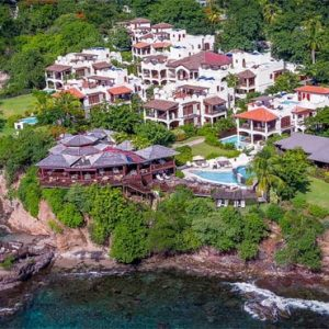 St Lucia Honeymoon Packages Cap Maison, St Lucia Aerial View
