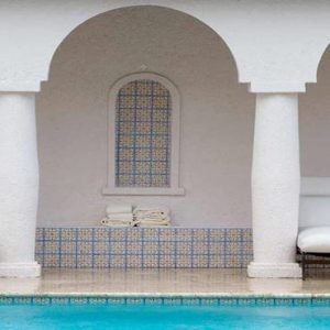 St Lucia Honeymoon Packages Cap Maison, St Lucia Courtyard Pool1
