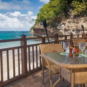 St Lucia Honeymoon Packages Cap Maison, St Lucia Dining View