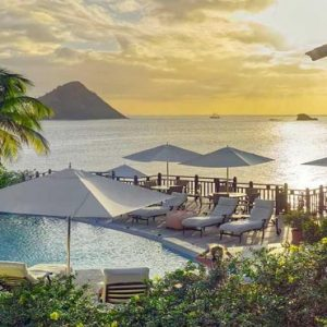 St Lucia Honeymoon Packages Cap Maison, St Lucia Infinity Pool View At Sunset