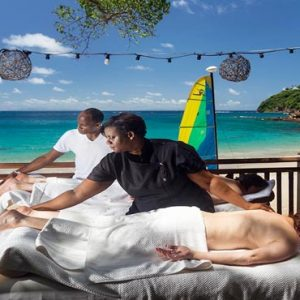 St Lucia Honeymoon Packages Cap Maison, St Lucia Outdoor Spa Massage