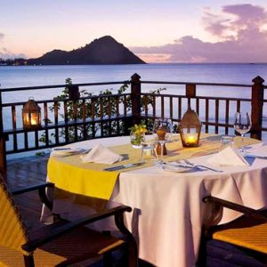 St Lucia Honeymoon Packages Cap Maison, St Lucia Private Dining At Cliff