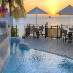 St Lucia Honeymoon Packages Cap Maison, St Lucia Pool At Sunset