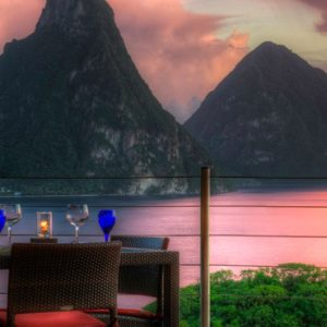 St Lucia Honeymoon Packages Jade Mountain Dining