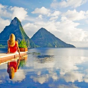 St Lucia Honeymoon Packages Jade Mountain Pool 3