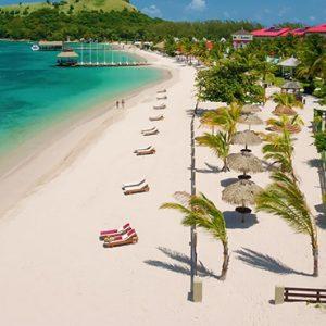 St Lucia Honeymoon Packages Sandals Grande St Lucian Resort Beach