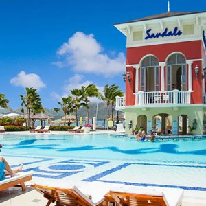 St Lucia Honeymoon Packages Sandals Grande St Lucian Resort Pool