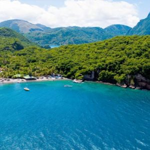 St Lucia Honeymoon Packages Jade Mountain Aerial View Of Location