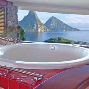 St Lucia Honeymoon Packages Jade Mountain Bath With A View