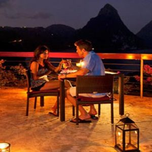 St Lucia Honeymoon Packages Jade Mountain Dinner On The Celestial Terrace