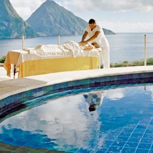 St Lucia Honeymoon Packages Jade Mountain In Room Spa Massage