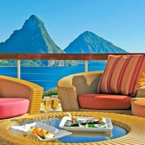 St Lucia Honeymoon Packages Jade Mountain Private Dining