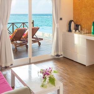 Sun Aqua Vilu Reef - Luxury Maldives honeymoon packages - Aqua Suite living area