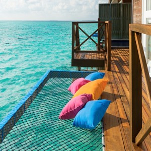 Sun Aqua Vilu Reef - Luxury Maldives honeymoon packages - Aqua Villa Hammock