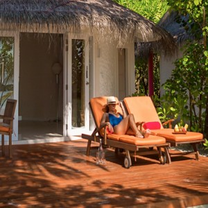 Sun Aqua Vilu Reef - Luxury Maldives honeymoon packages - Beach villas exterior deck