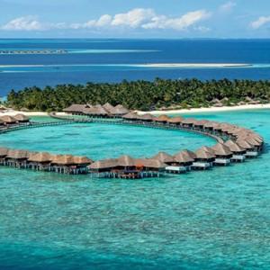 Sun Aqua Vilu Reef - Luxury Maldives honeymoon packages - aerial view