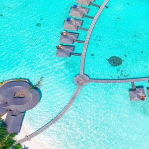 Sun Aqua Vilu Reef - Luxury Maldives honeymoon packages - aerial view 2