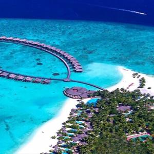Sun Aqua Vilu Reef - Luxury Maldives honeymoon packages - aerial view1