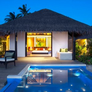 Velassaru Maldives - Luxury Maldives Honeymoon Packages - Beach Villa with pool exterior