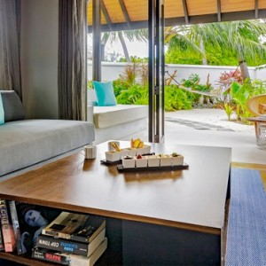 Velassaru Maldives - Luxury Maldives Honeymoon Packages - Pool Villa living area