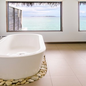 Velassaru Maldives - Luxury Maldives Honeymoon Packages - Water Bungalow with Pool bathroom
