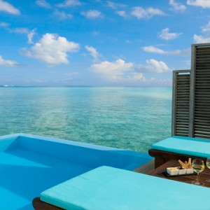 Velassaru Maldives - Luxury Maldives Honeymoon Packages - Water Bungalow with Pool exterior pool view